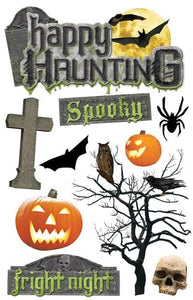 Happy Haunting 3D Sticker