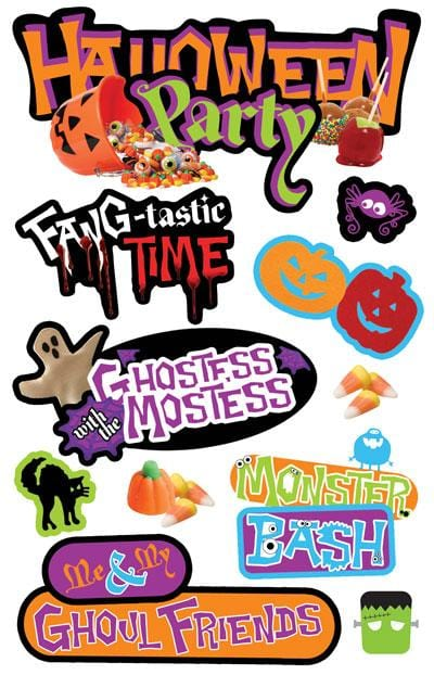 Halloween Party  3D Sticker