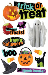 Trick or Treat 3D Sticker