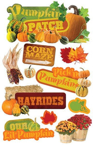 Pumpkin Patch 3D Sticker