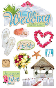 beach wedding 3d sticker