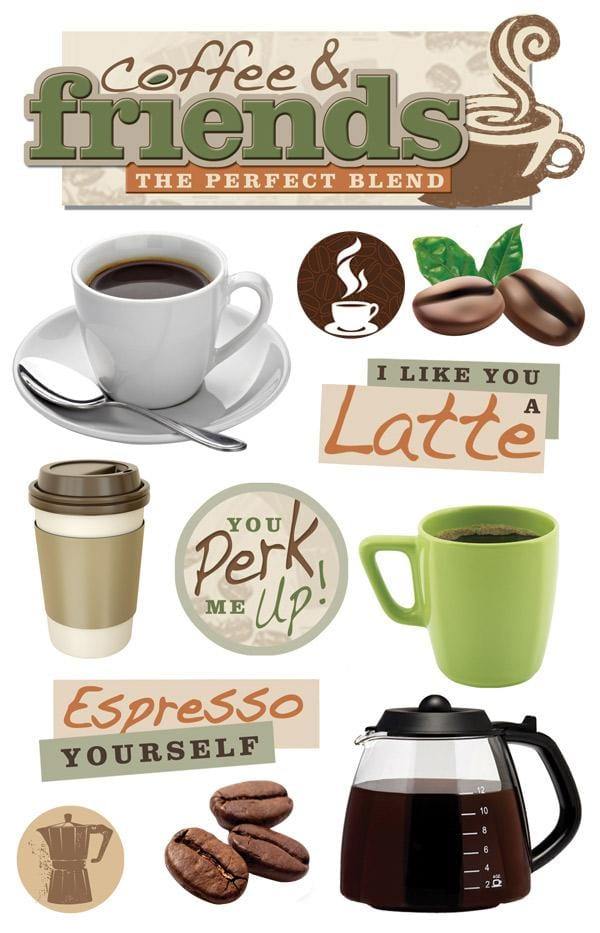 coffee talk 3d sticker
