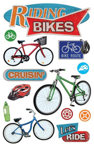 Riding Bikes 3D Sticker