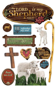 Lord Is My Shepherd 3D Sticker