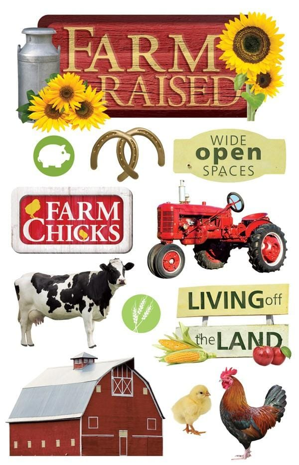 farm raised 3d sticker
