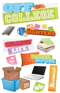 Off to College 3D Sticker