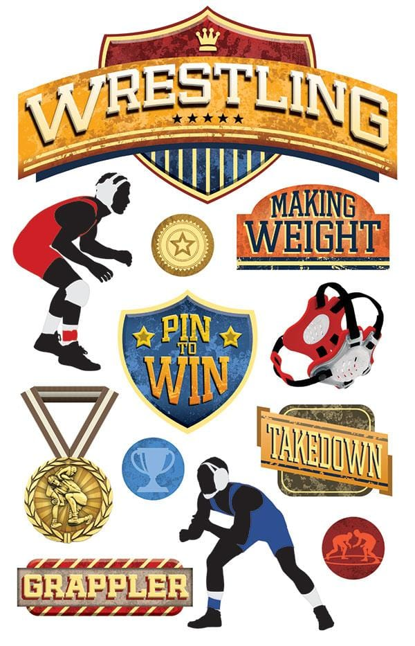Wrestling 3D Sticker