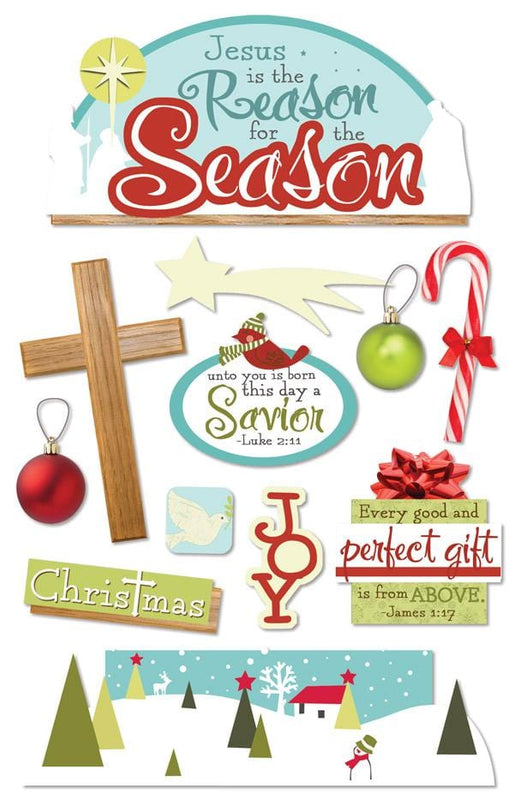 Reason for the Season 3D Sticker