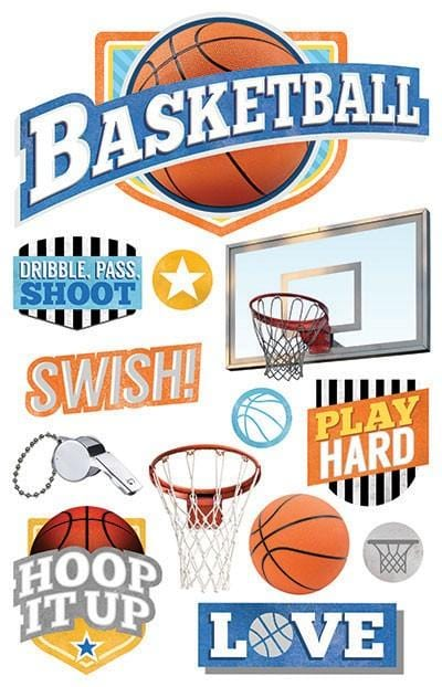 Basketball 3D Sticker