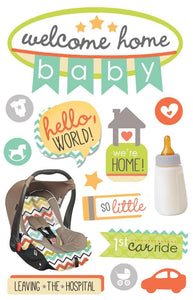 Welcome Home Baby 3D Sticker