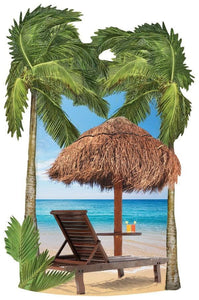 Tropical Beach 3D Sticker