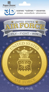 United States Air Force Emblem 3D Sticker