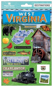 Travel-West Virginia Dimensional Sticker