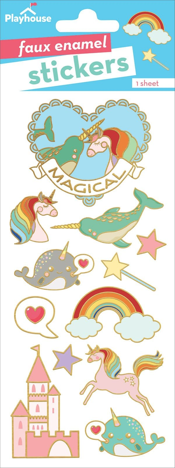 Magical Faux Enamel Stickers