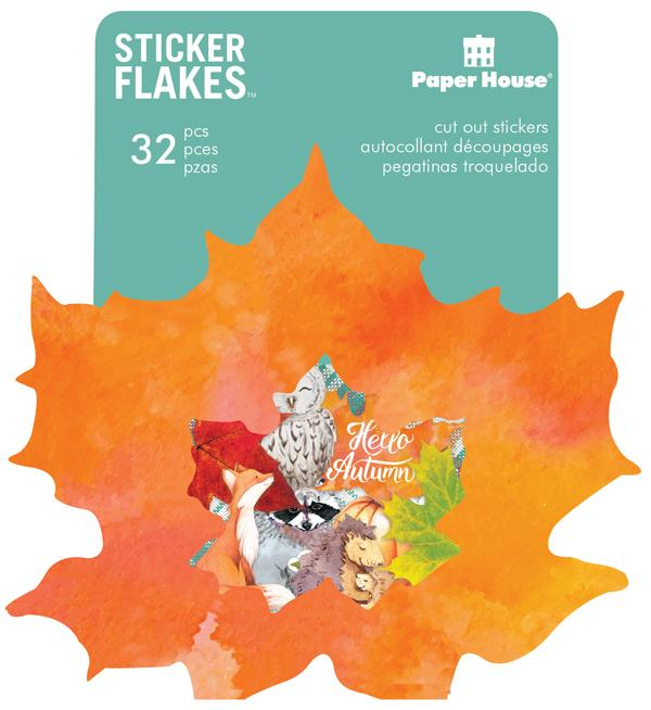 Autumn Woods Flake Stickers