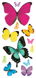 butterflies puffy sticker