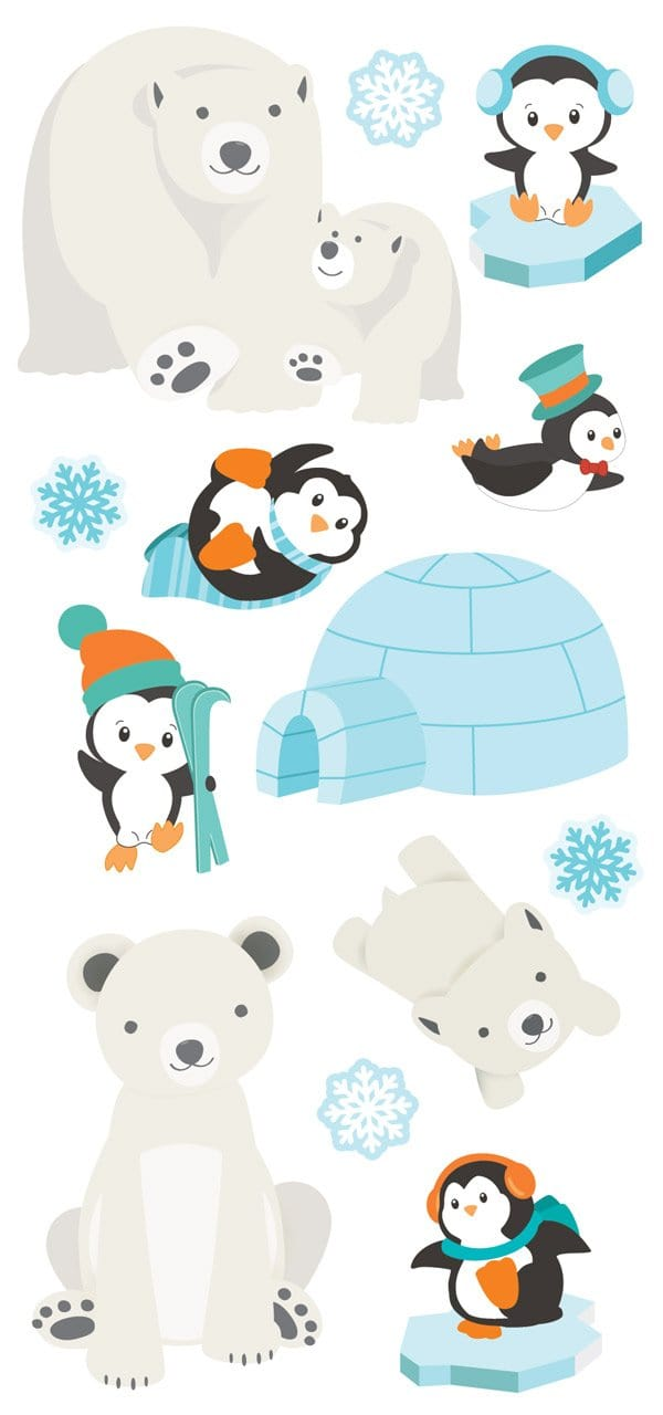 Polar Animals Puffy Sticker