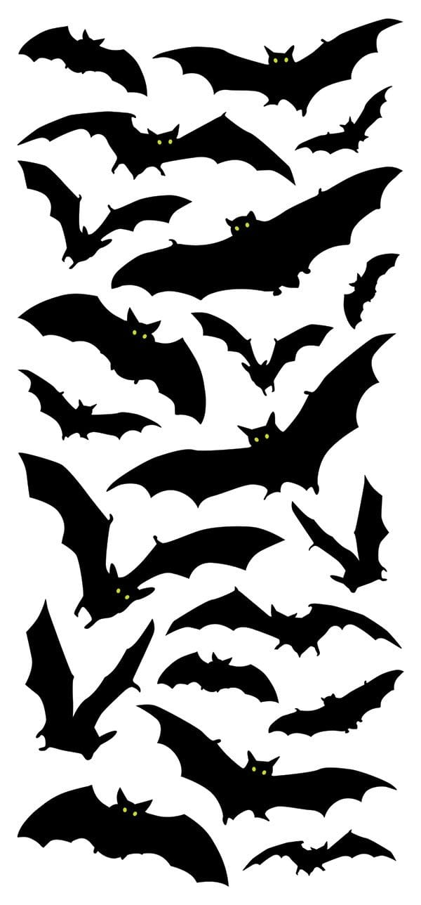 Halloween Bats Puffy Sticker