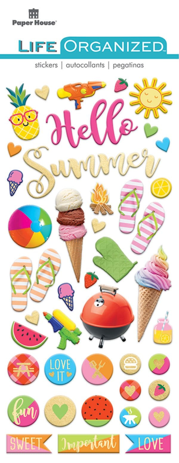 Summer Fun Puffy Sticker
