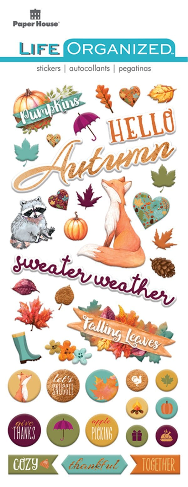 Autumn Woods Puffy Sticker
