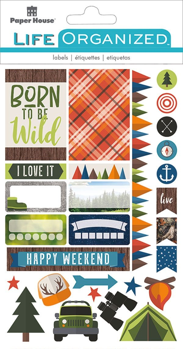 Great Outdoors Planner Stickers