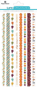 autumn woods rice paper borders