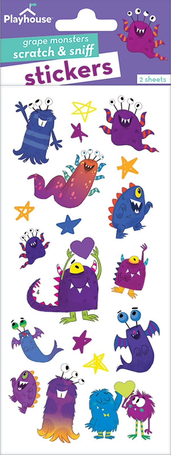 Monsters Scratch and Sniff Stickers