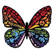 Load image into Gallery viewer, Love Is Love Butterfly Vinyl Sticker