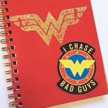 Load image into Gallery viewer, Wonder Woman I Chase Bad Guys Vinyl Sticker