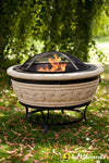La Hacienda Medium Scroll Firepit