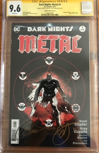 DARK NIGHTS: METAL #1 1:100 B&W MIDNIGHT RELEASE CGC 9.6 SS