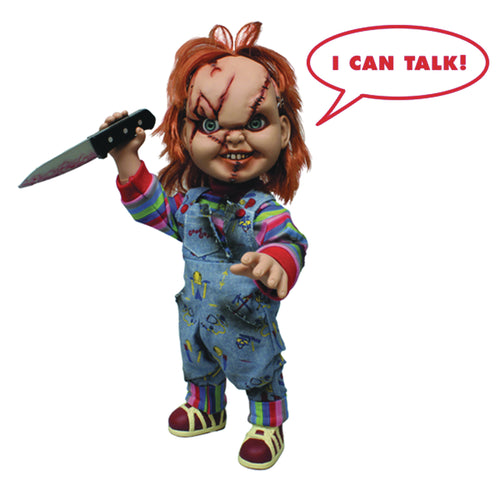 CHILDS PLAY TALKING CHUCKY 15IN MEGA SCALE FIG (C: 1-1-0)