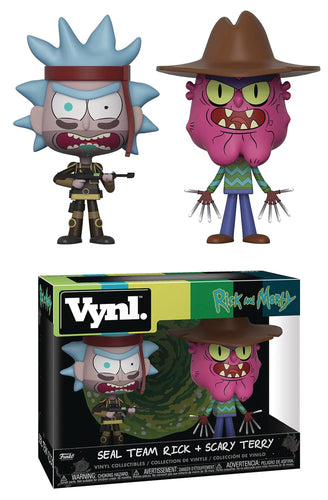 VYNL RICK & MORTY SEAL TEAM RICK AND SCARY TERRY VIN FIG 2PK