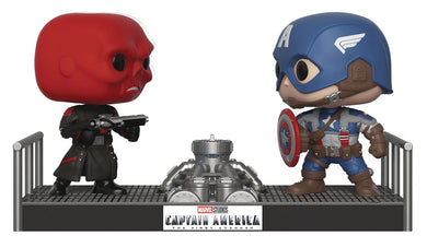POP MOVIE MOMENT MARVEL CAPTAIN AMERICA VS. RED SK VIN FIG