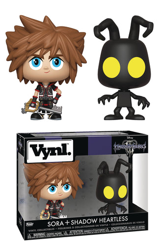 VYNL KINGDOM HEARTS SORA & HEARTLESS VIN FIG 2PK (C: 1-1-2)