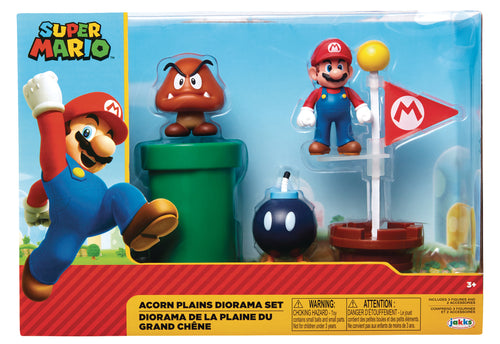 NINTENDO 2-1/2IN FIGURE ACORN PLAINS DIORAMA SET CS (Net) (C