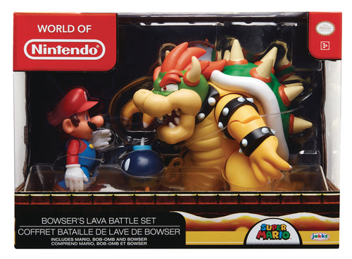 NINTENDO 4IN MARIO VS BOWSER DIORAMA SET CS (Net) (C: 1-1-2)