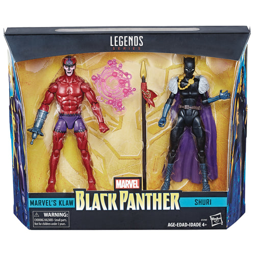BLACK PANTHER LEGENDS SHURI/KLAW 6IN AF 2PK CS (Net) (C: 1-1
