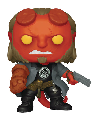 POP MOVIES HELLBOY W/ BPRD TEE VINYL FIG (C: 1-1-2)