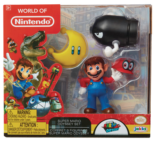 WORLD OF NINTENDO SUPER MARIO ODYSSEY FIG 3PK CS (Net) (C: 1