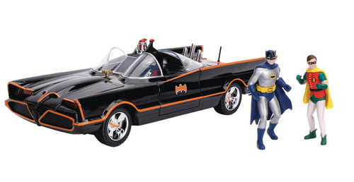 METALS BATMAN CLASSIC TV SERIES BATMOBILE 1/18 VEHICLE W/FIG
