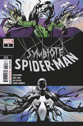 SYMBIOTE SPIDER-MAN #5 (OF 5) 2ND PTG LAND VAR