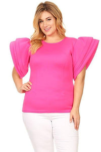 *LaBelle Blouse in Fuchsia