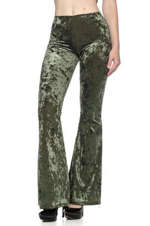 Iced Velvet Pants in Olive