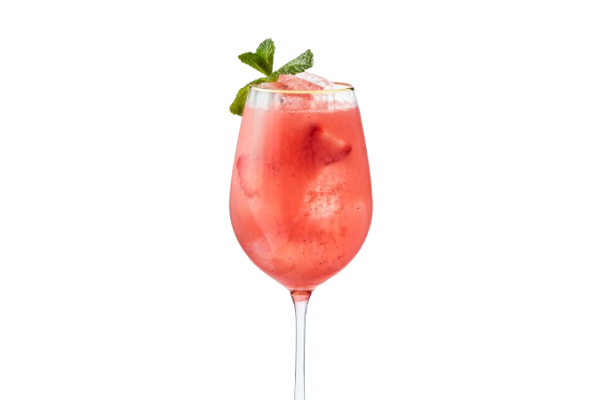 Spring cocktail strawberry grey goose