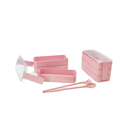 Bento Lunch Box 3 Tiered | Pink
