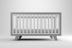 Chelsea Cot Grey & Innerspring Mattress Package