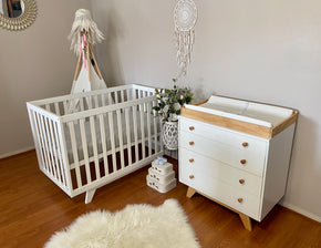Boston Cot White & Madison 4 Drawer Chest Package