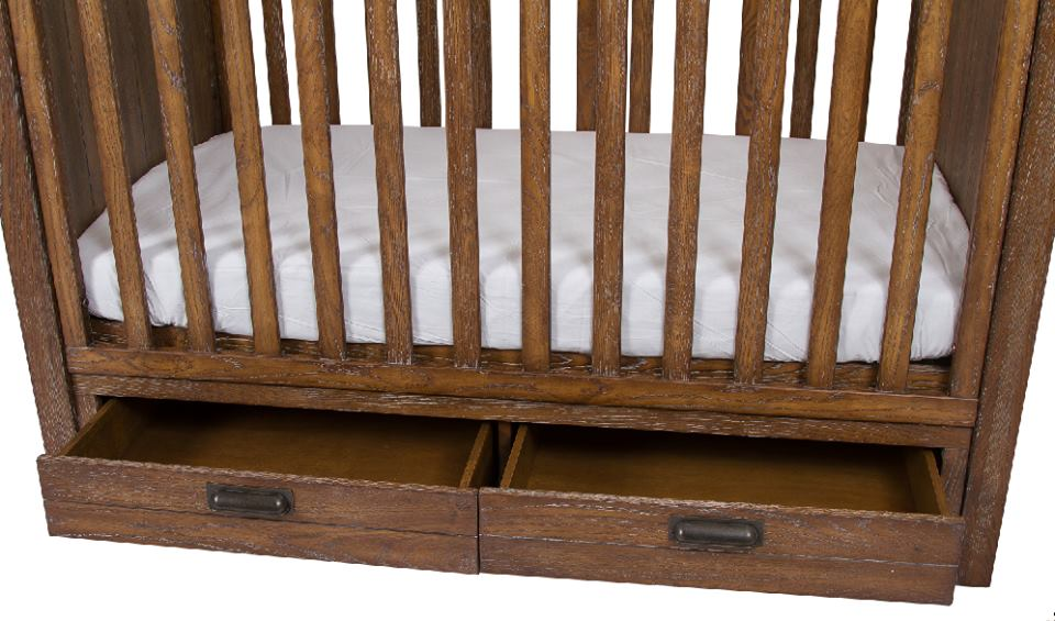 Manhattan Cot Antique Oak Wash - Floor Display only Available
