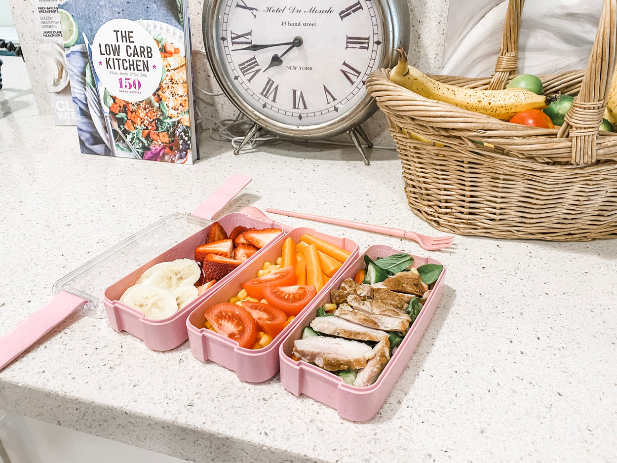 Bento Lunch Box 3 Tiered | Blue